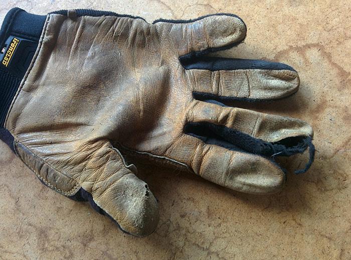 used garden gloves