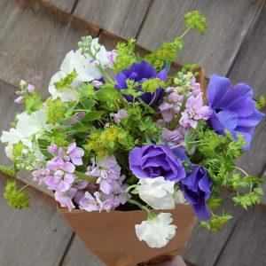 spring farm flowers, spring bouquet CSA share