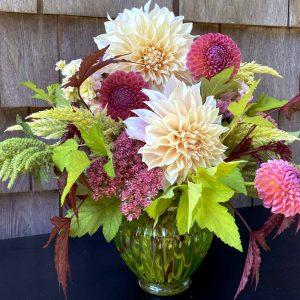 summer flower bouquet, CSA share flowers, flower farm harvest, flowers, fresh flowers, dahlias mixed bouquet