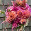 dahlia bouquet, dahlia floral arrangement, flower CSA