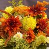 large arrangement, fall flowers, dahlias, elegant floral design